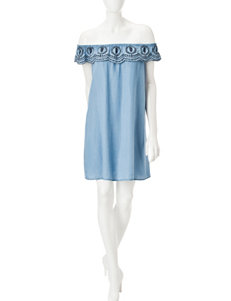 Signature Studio Light Blue Everyday & Casual Shift Dresses