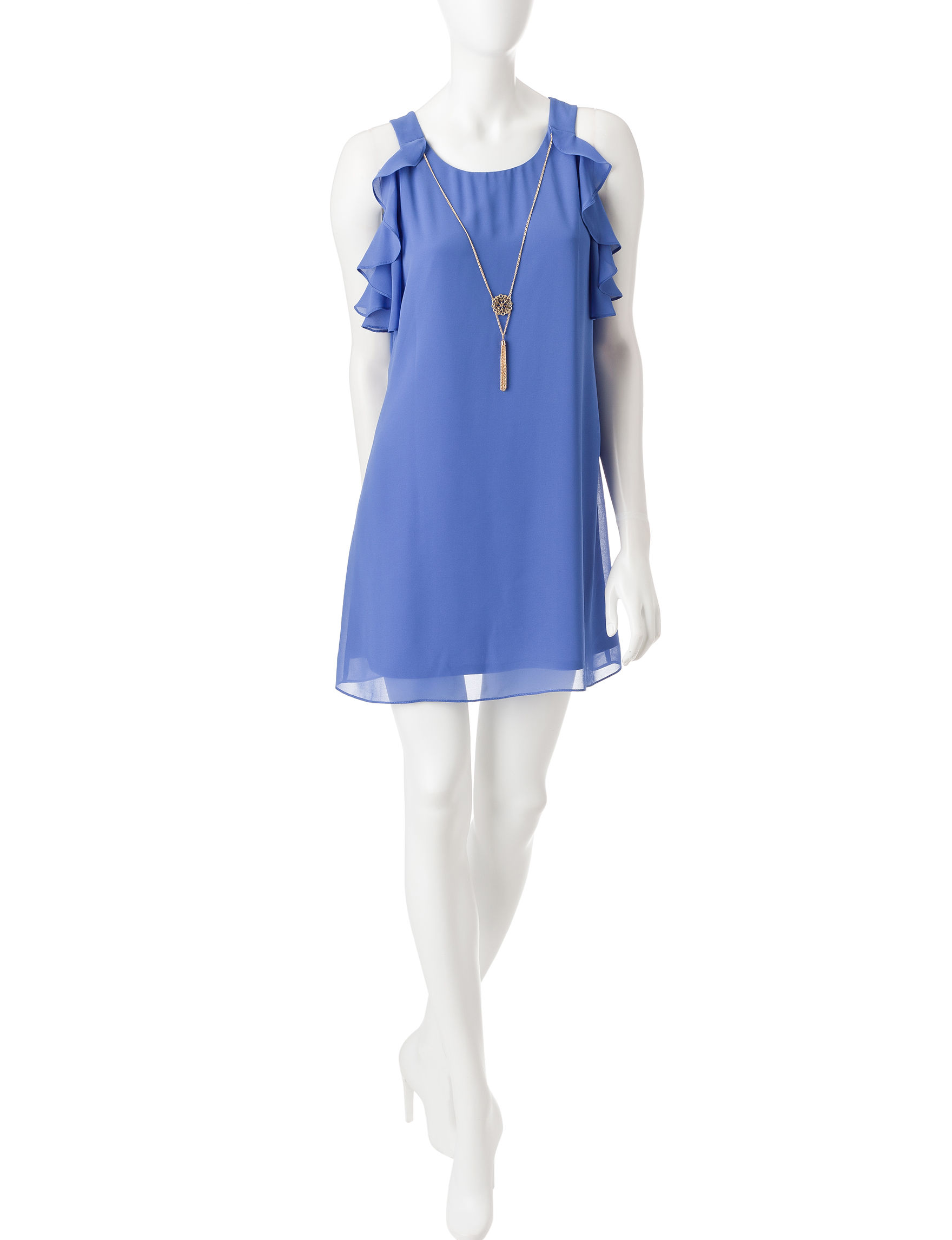 A. Byer Blue Everyday & Casual Shift Dresses
