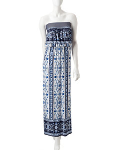 Trixxi White / Blue Everyday & Casual Sundresses
