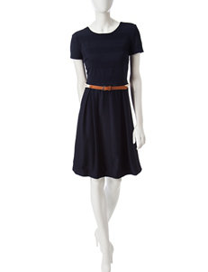 Chetta B Navy Everyday & Casual A-line Dresses Fit & Flare Dresses