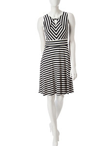 Chetta B Ivory Everyday & Casual A-line Dresses Fit & Flare Dresses
