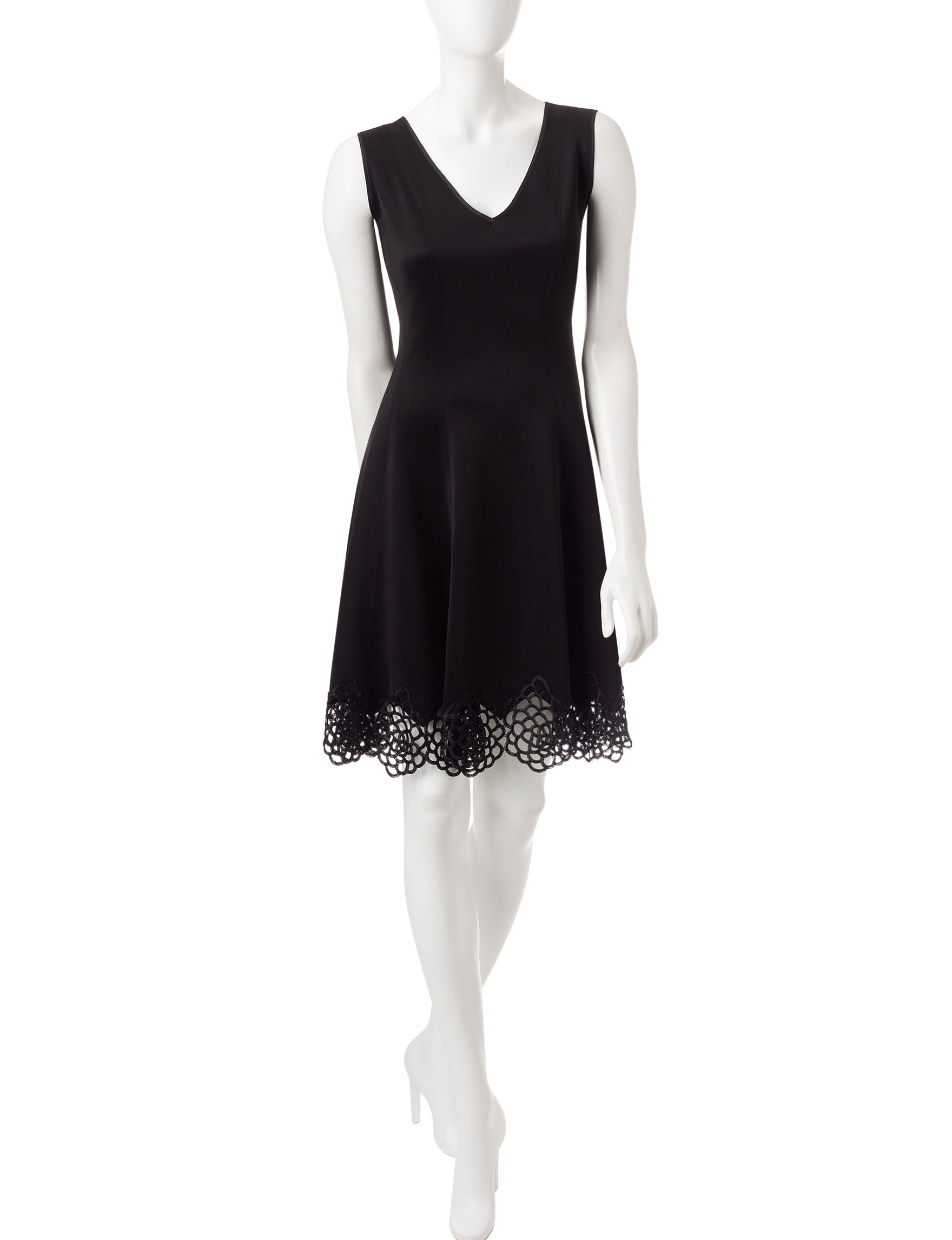 Chetta B Black Cocktail & Party Evening & Formal A-line Dresses Fit & Flare Dresses