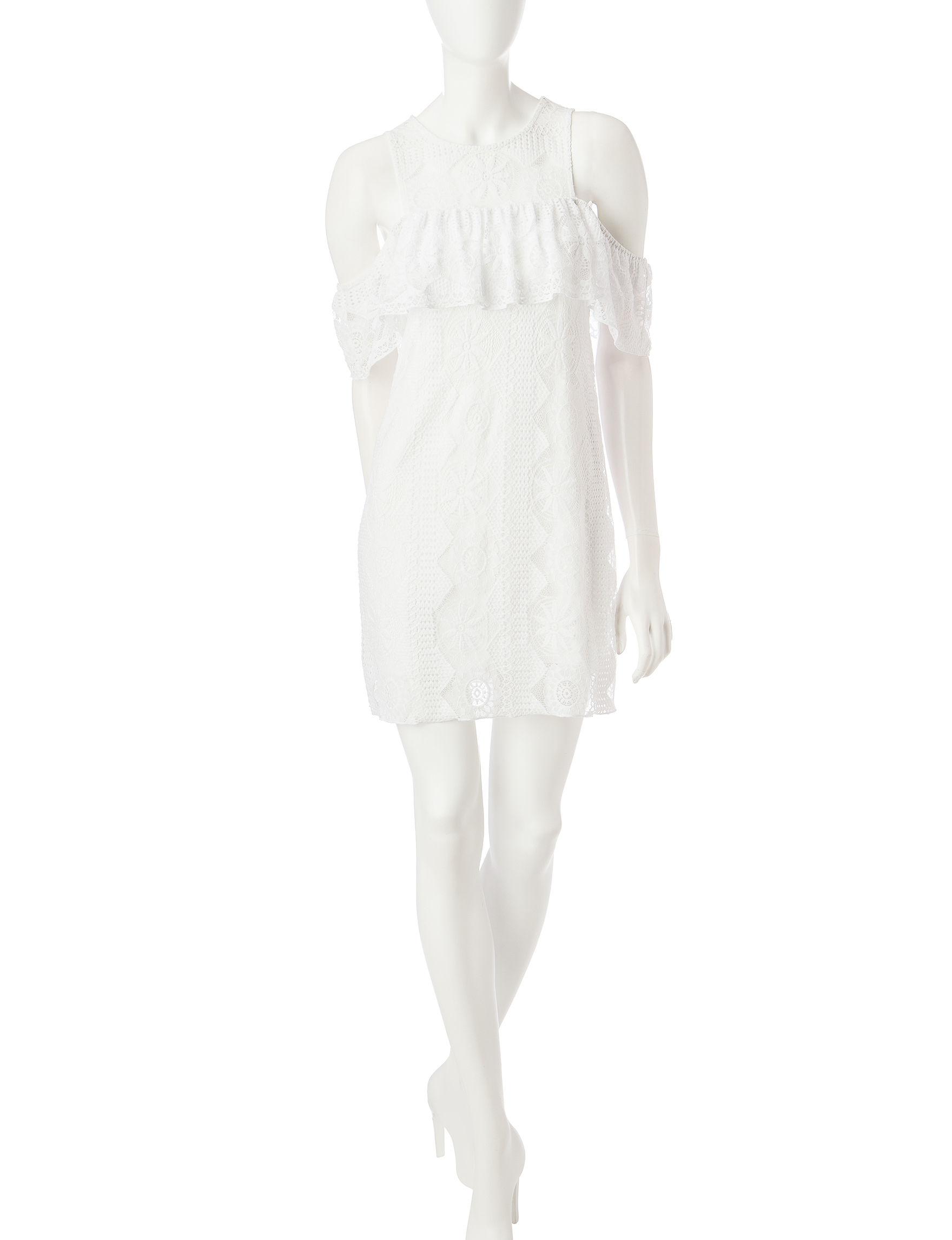 Trixxi White Everyday & Casual Shift Dresses
