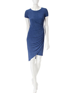 London Times Blue Everyday & Casual Sheath Dresses