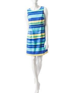 Ronni Nicole Blue Everyday & Casual Sheath Dresses