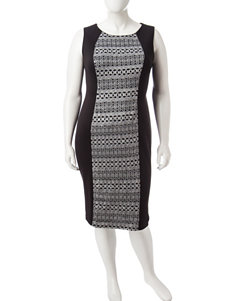R & M Richards Grey Cocktail & Party Evening & Formal Sheath Dresses