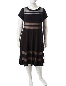 R & M Richards Black Cocktail & Party Evening & Formal A-line Dresses