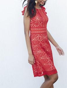 Sangria Lace A-line Dress