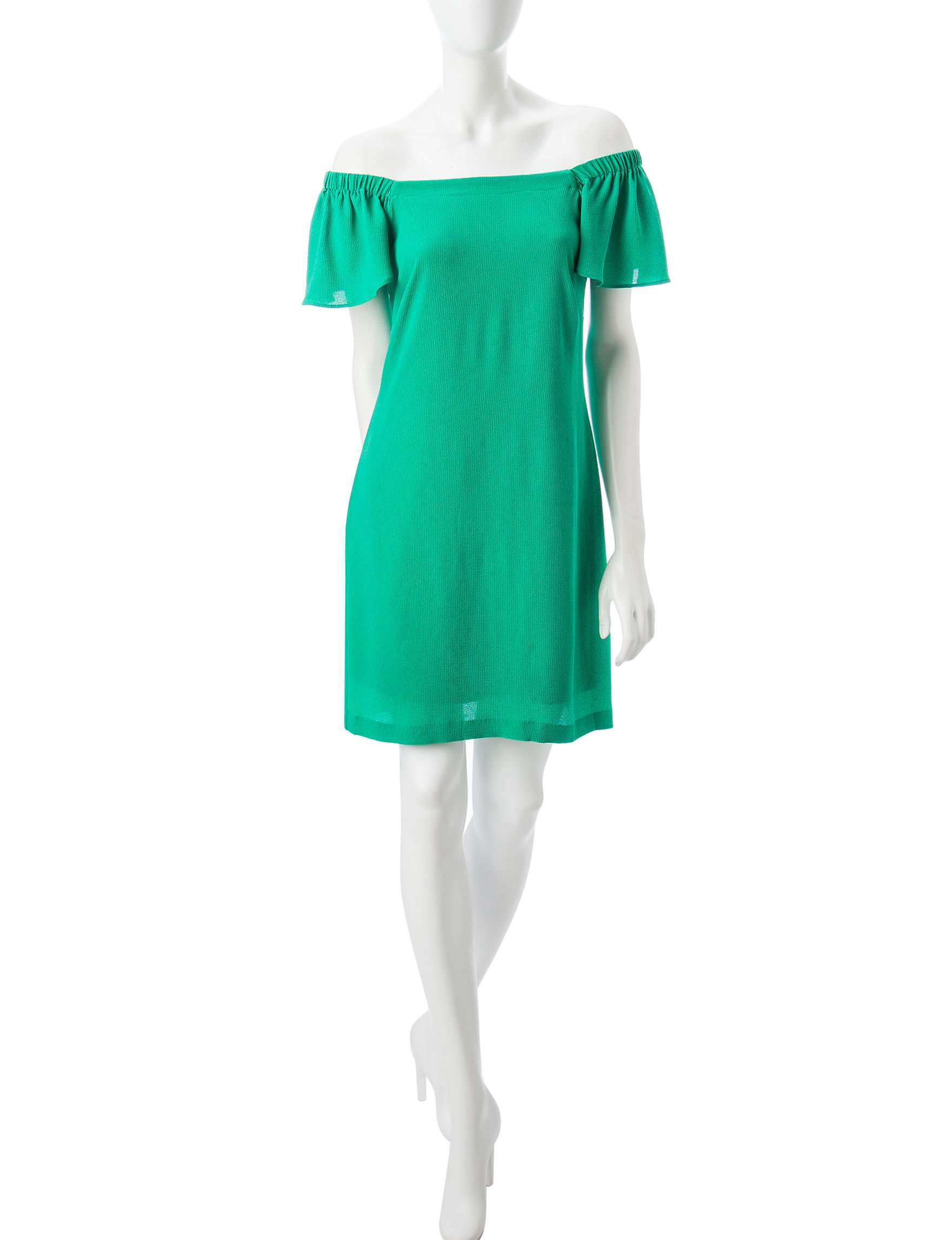 Robbie Bee Green Everyday & Casual Sheath Dresses