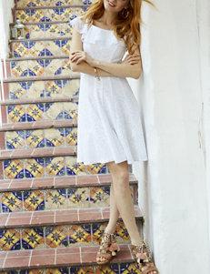 Sandra Darren Off-the-Shoulder Lace Dress