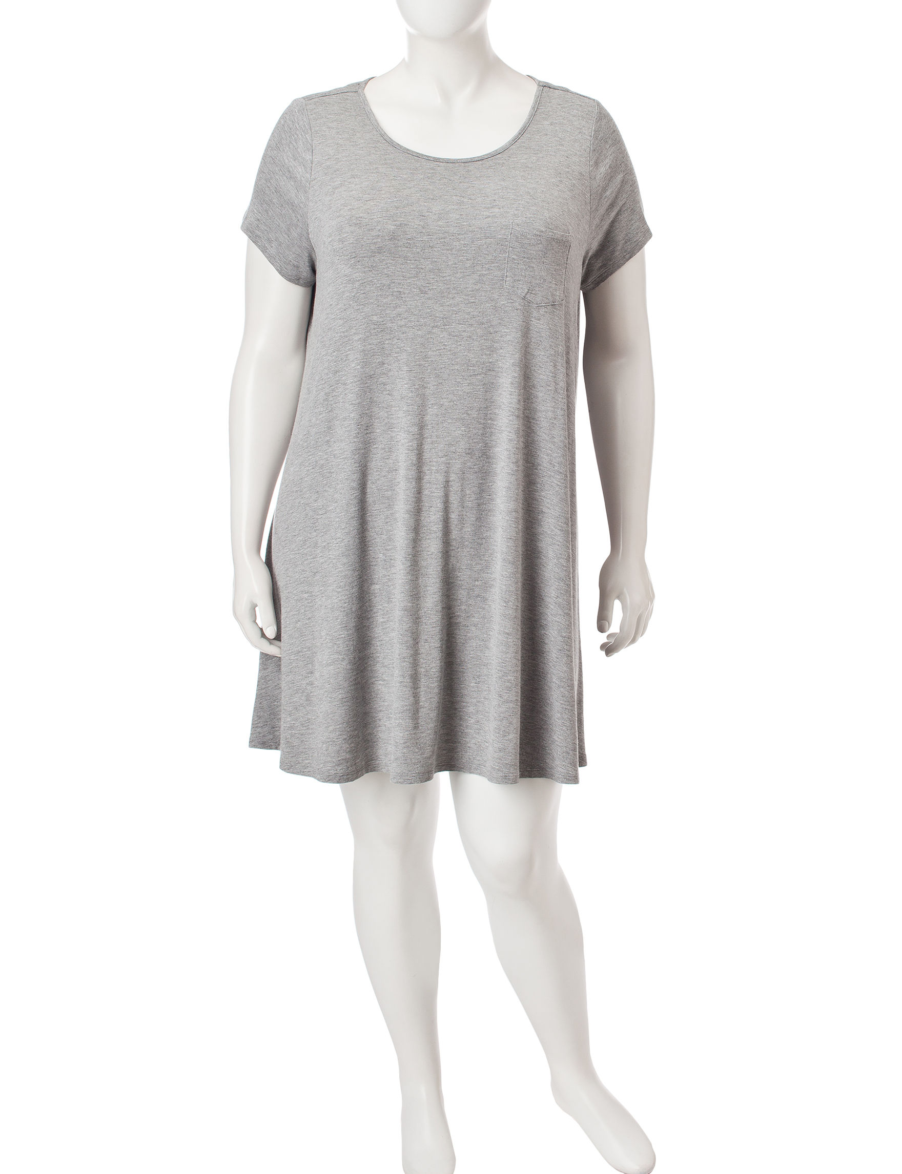 Fire Charcoal Everyday & Casual Shirt Dresses