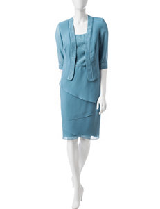 Dana Kay Blue Evening & Formal Jacket Dresses