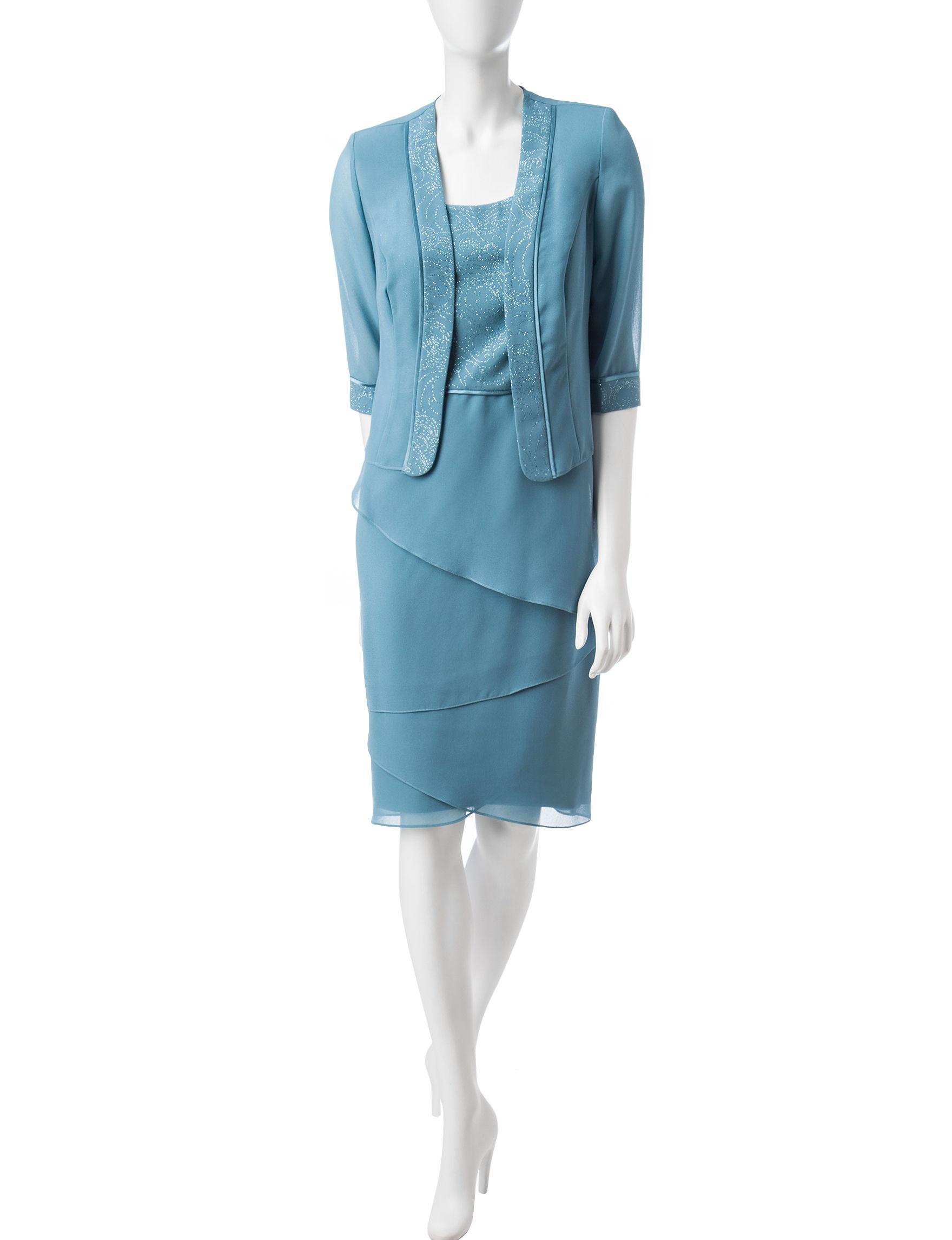 Dana Kay Blue Evening & Formal Jacket Dresses