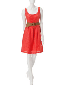 Nine West Orange Everyday & Casual A-line Dresses