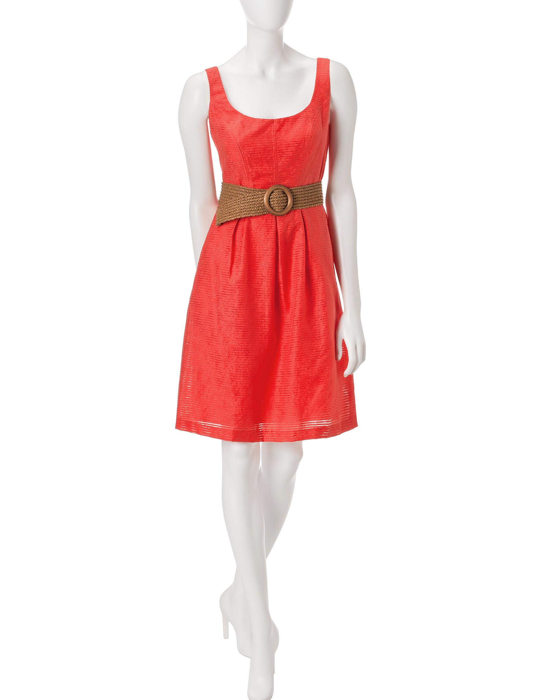 Nine West Orange Everyday & Casual A-line Dresses