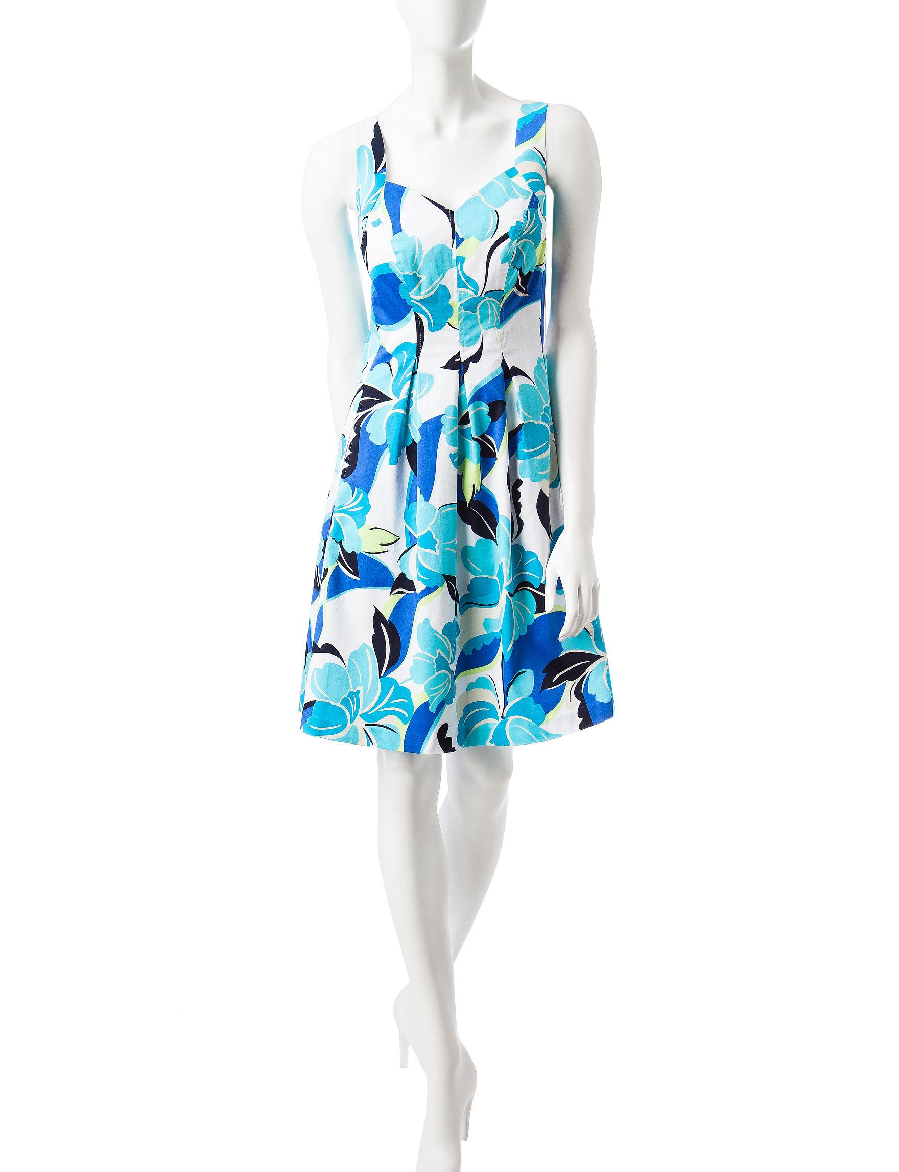 Nine West Blue Multi Everyday & Casual A-line Dresses