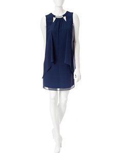 S.L. Fashions Navy Everyday & Casual Shift Dresses