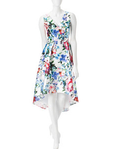S.L. Fashions Hi-Lo Mikado Dress