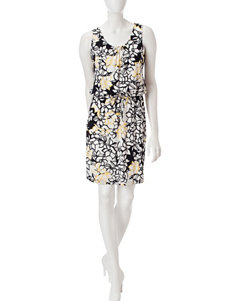 Lennie Black / Yellow Everyday & Casual A-line Dresses