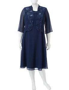 Dana Kay Navy Evening & Formal Jacket Dresses