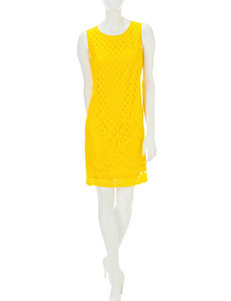 Sharagano Yellow Everyday & Casual Sheath Dresses