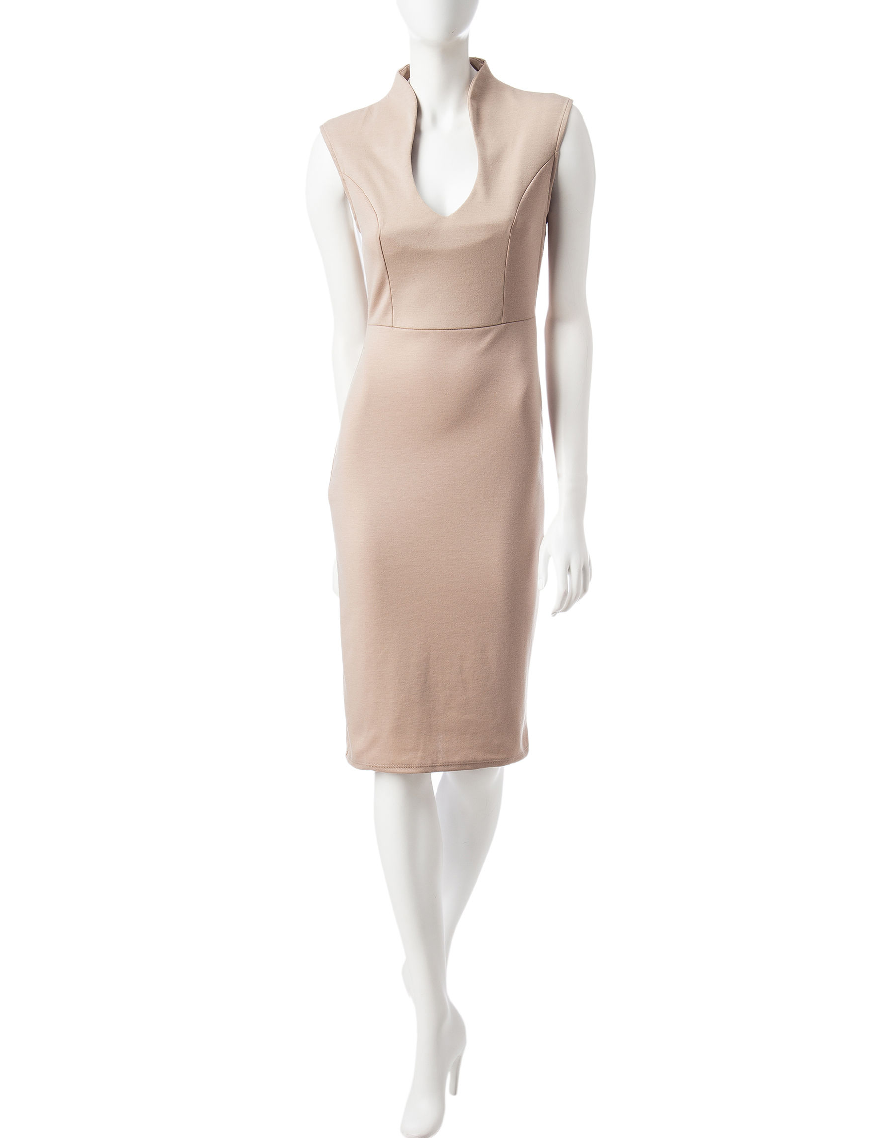 Almost Famous Beige Everyday & Casual Sheath Dresses