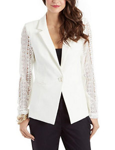 XOXO Ivory Lightweight Jackets & Blazers