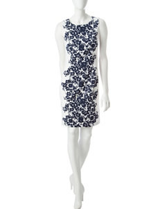 Ronni Nicole Navy Everyday & Casual Sheath Dresses