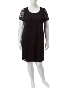Ronni Nicole Plus-size Lace Shift Dress