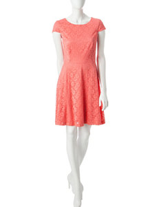 Connected Coral Everyday & Casual A-line Dresses