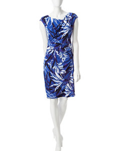 Connected Royal Blue Everyday & Casual Sheath Dresses