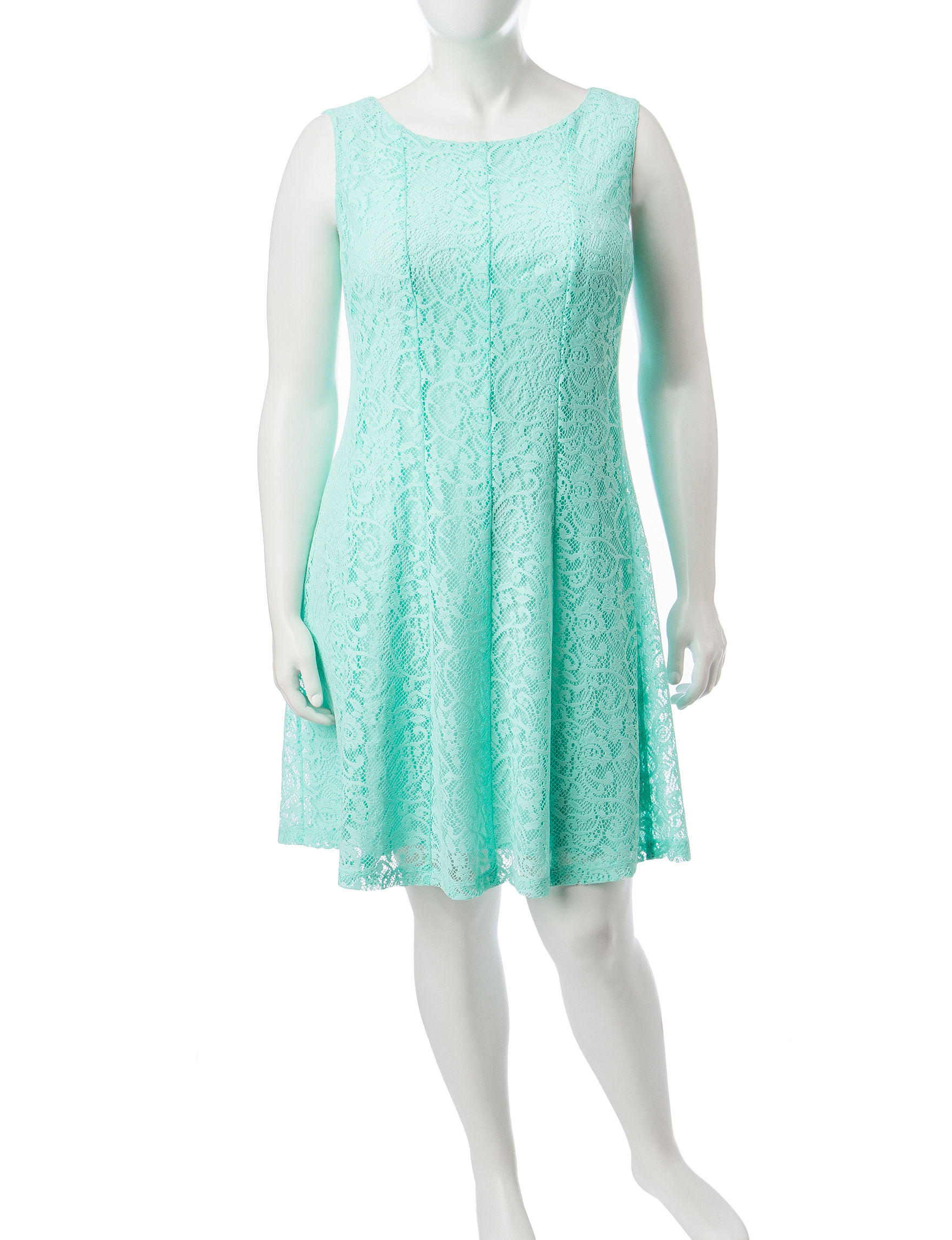 Connected Turquiose Everyday & Casual A-line Dresses