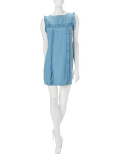 Sharagano Blue Everyday & Casual Shift Dresses