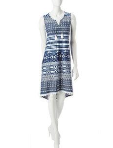 One World Blue Everyday & Casual Sundresses