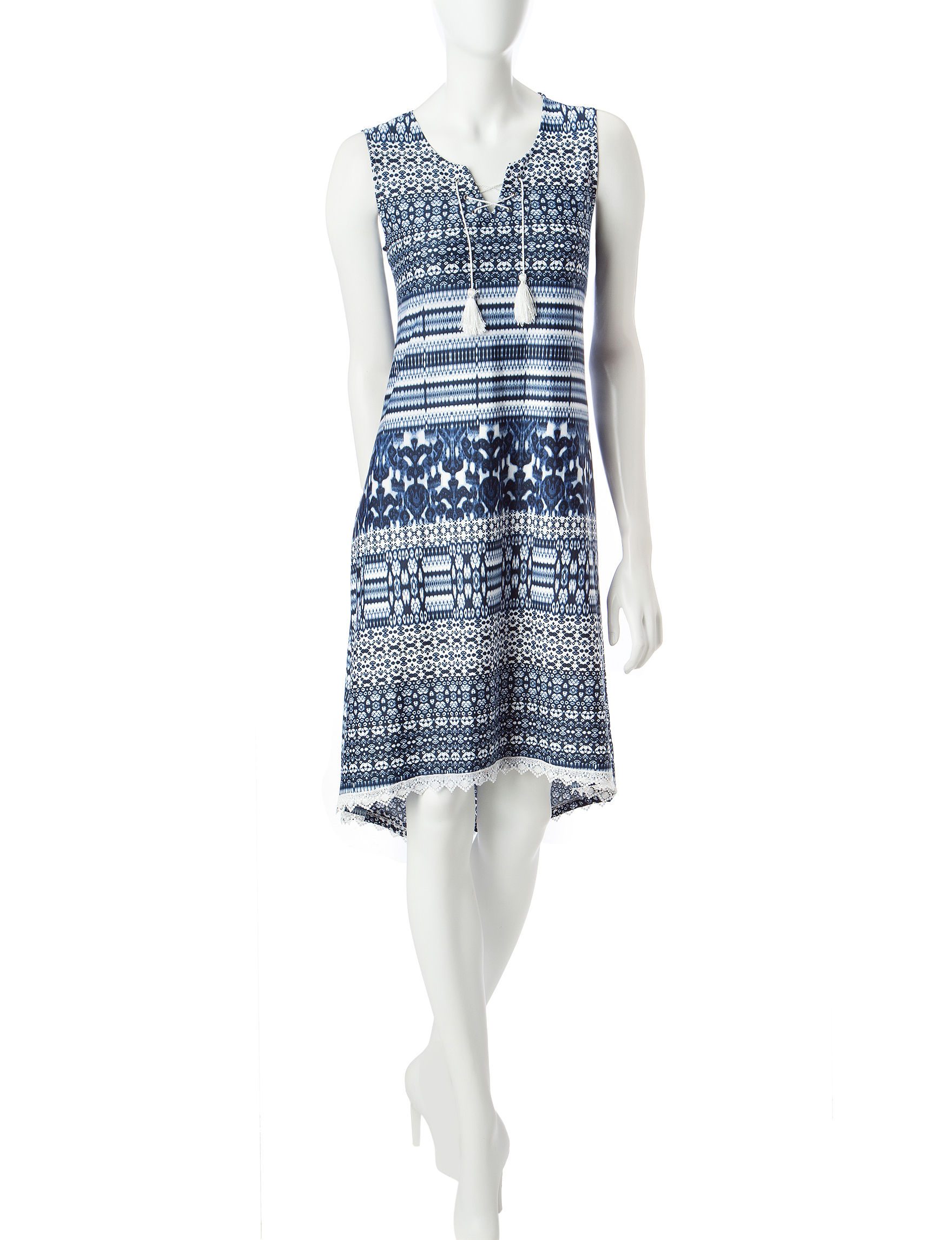 One World Blue Everyday & Casual Sundresses