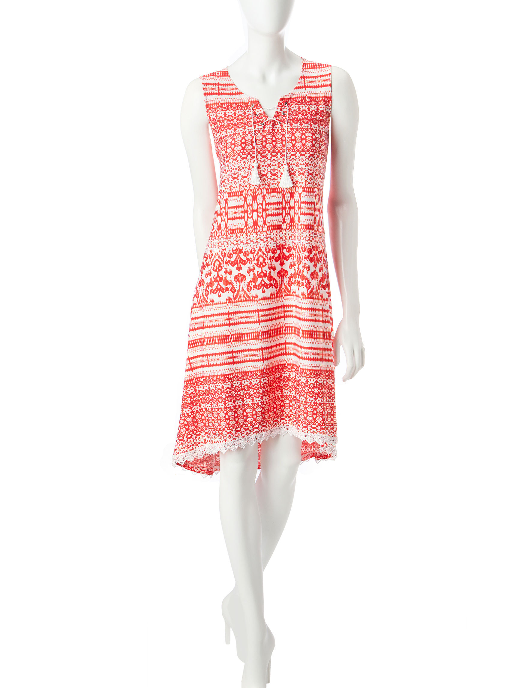 One World Red Everyday & Casual Sundresses