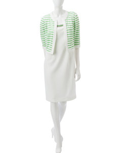 Dana Kay White Everyday & Casual Jacket Dresses