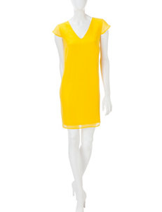 Signature Studio Yellow Everyday & Casual Shift Dresses