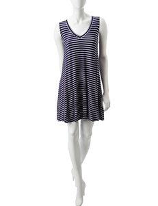 Signature Studio Navy Everyday & Casual A-line Dresses
