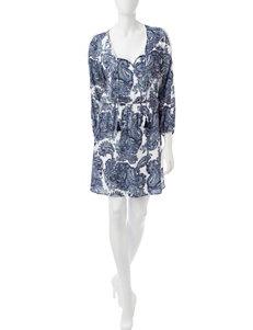 Signature Studio Blue / White Everyday & Casual Shirt Dresses