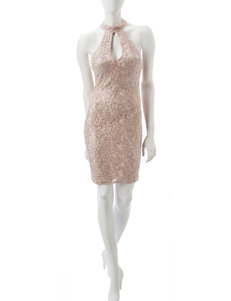 My Michelle Beige Cocktail & Party Everyday & Casual Sheath Dresses