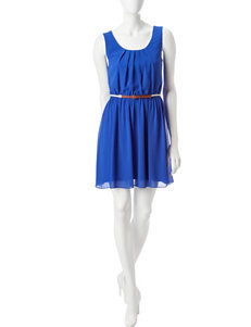 A. Byer Blue Everyday & Casual Fit & Flare Dresses