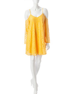 Fire Yellow Everyday & Casual Shirt Dresses