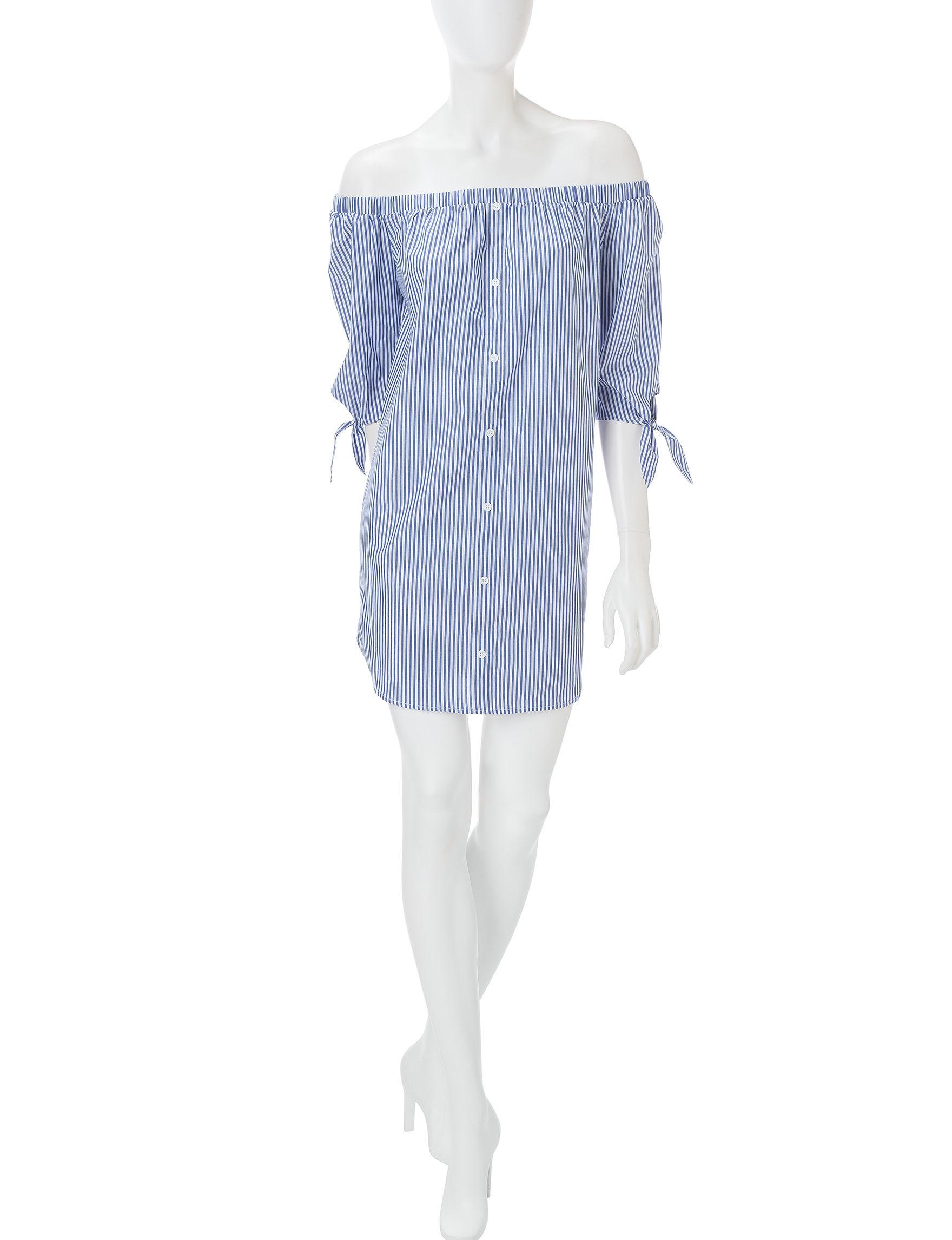Fire Blue Everyday & Casual Shirt Dresses