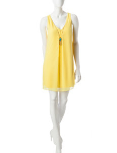 A. Byer Yellow Everyday & Casual Shift Dresses