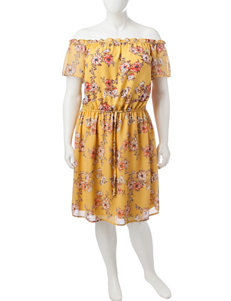 BeBop Yellow Everyday & Casual Sheath Dresses