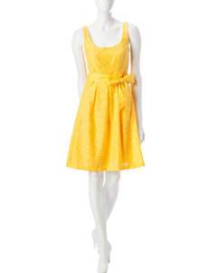 Nine West Yellow Everyday & Casual A-line Dresses