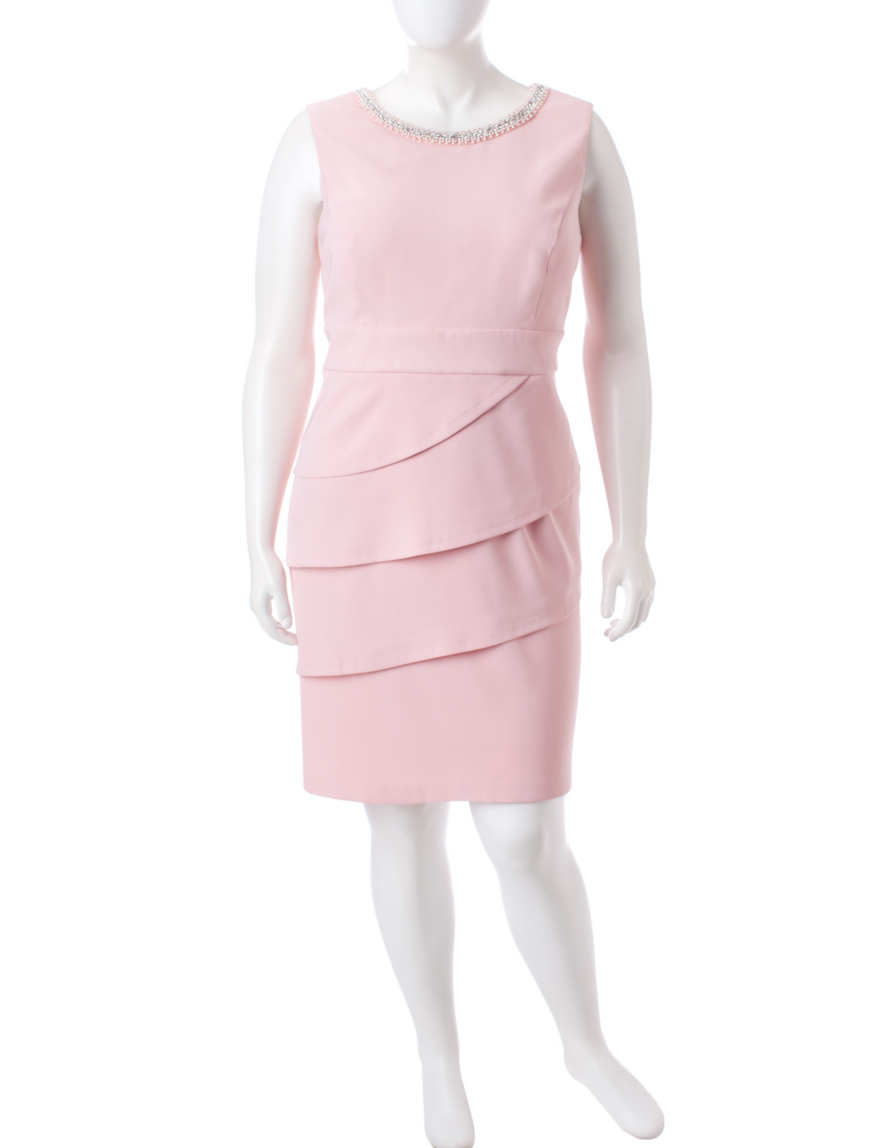 Connected Blush Cocktail & Party Evening & Formal Sheath Dresses