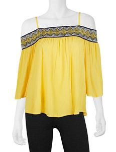 A. Byer Yellow Shirts & Blouses