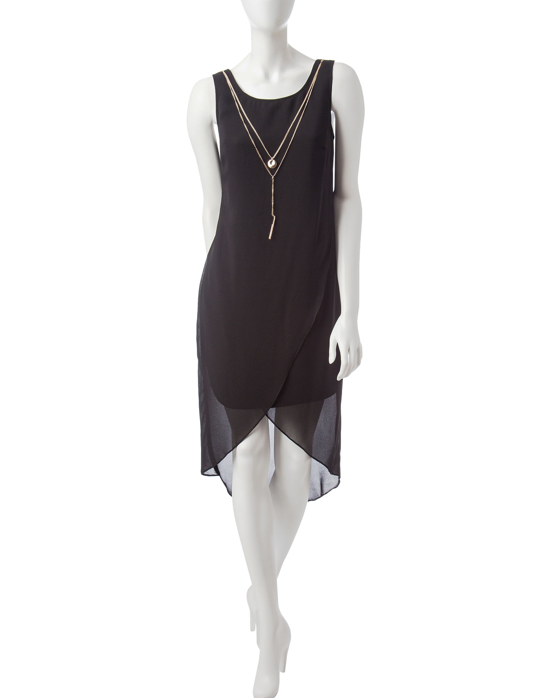 S.L. Fashions Black Everyday & Casual Shift Dresses